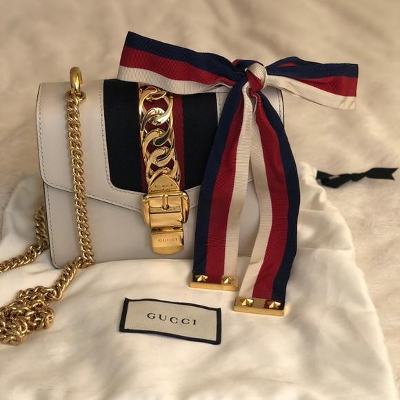 2d1ee8de0 Gucci Bags | Sylvie Leather Mini Chain Bag | Poshmark